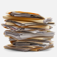Stack of files | lots of work